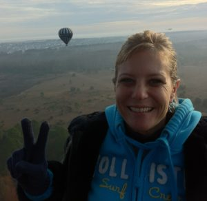 Sheri Rosser on hot air balloon