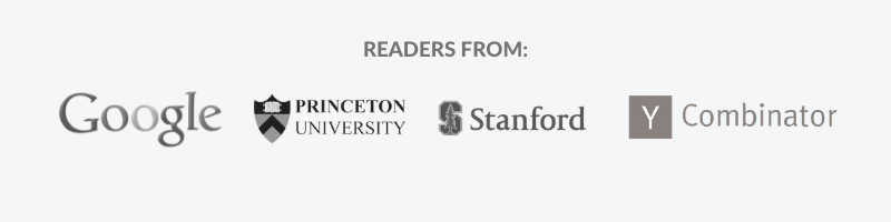 Readers from Google, Princeton, Stanford, and Y Combinator