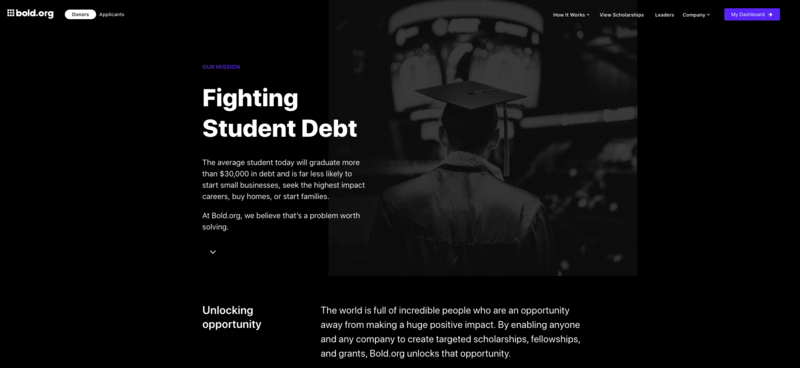 bold.org: fighting student debt